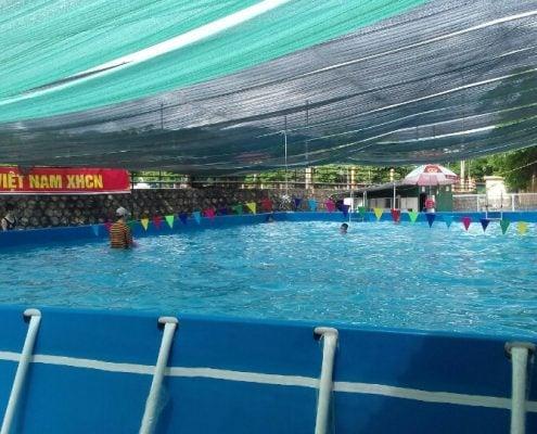 Hồ bơi di động tại Điện Biên