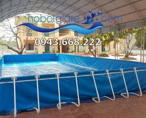 Bể bơi di động cho trường tiểu học tại bắc giang